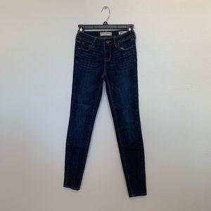 Dark Wash Bullhead Skinny Jeans